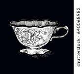 a cup of tea   Shutterstock . vector #640068982