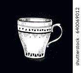 a cup of tea   Shutterstock . vector #640069012