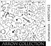 hand drawn vector arrows set. | Shutterstock .eps vector #640071412