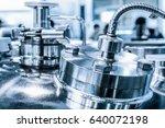 metal flanges with flexible... | Shutterstock . vector #640072198