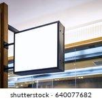signboard shop mock up black... | Shutterstock . vector #640077682