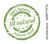 all natural 100  natural grunge ... | Shutterstock .eps vector #640077976
