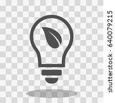 ecological lightbulb icon stock ... | Shutterstock .eps vector #640079215