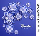 ramadan kareem beautiful... | Shutterstock .eps vector #640080448