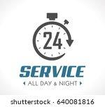 logo   stopwatch concept   all... | Shutterstock .eps vector #640081816