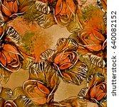 roses.seamless background.... | Shutterstock . vector #640082152