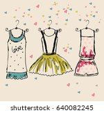 vector fashionable beautiful... | Shutterstock .eps vector #640082245