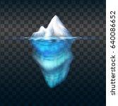 Iceberg On Transparent...