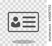 id card icon | Shutterstock .eps vector #640087552