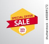 limited offer mega sale banner. ... | Shutterstock .eps vector #640089172
