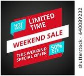 limited offer mega sale banner. ... | Shutterstock .eps vector #640089232