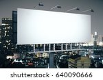 side view of empty banner on... | Shutterstock . vector #640090666