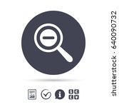 magnifier glass sign icon. zoom ...   Shutterstock .eps vector #640090732