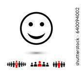 smile icon  | Shutterstock .eps vector #640094002