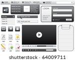 website elements for web... | Shutterstock .eps vector #64009711