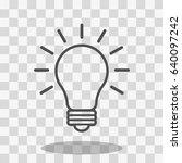 bulb icon stock vector... | Shutterstock .eps vector #640097242