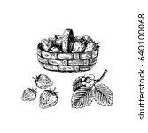 berries in the basket....   Shutterstock .eps vector #640100068