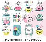 summer lettering pop art set... | Shutterstock .eps vector #640105936