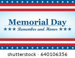 memorial day background with... | Shutterstock .eps vector #640106356