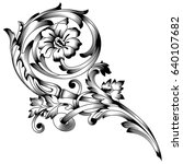 vintage baroque ornament ... | Shutterstock .eps vector #640107682