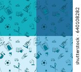 school seamless pattern. four... | Shutterstock .eps vector #640108282