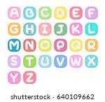 set of alphabet icons. | Shutterstock .eps vector #640109662