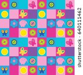 stylish seamless pattern with a ... | Shutterstock .eps vector #640111462