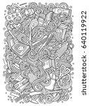cartoon cute doodles hand drawn ... | Shutterstock .eps vector #640119922