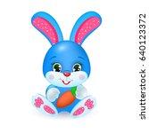 cute cartoon rabbit | Shutterstock .eps vector #640123372