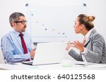 business people are arguing in... | Shutterstock . vector #640125568