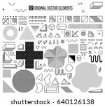mega set of design elements ... | Shutterstock .eps vector #640126138