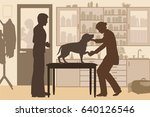 editable vector silhouette of a ... | Shutterstock .eps vector #640126546