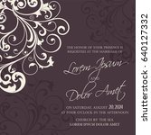 wedding invitation card with... | Shutterstock .eps vector #640127332