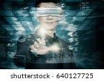 abstract technology background... | Shutterstock . vector #640127725