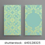 ornamented covers design in... | Shutterstock .eps vector #640128325
