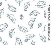 leaves on white background.... | Shutterstock .eps vector #640133812