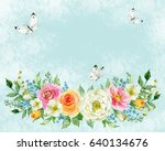 painted watercolor composition... | Shutterstock . vector #640134676