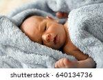 newborn baby boy. | Shutterstock . vector #640134736