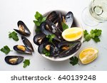 Boiled Mussels And White Wine...