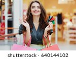 beautiful girl wearing pretty... | Shutterstock . vector #640144102