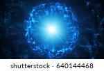 blue plasma sphere. computer...   Shutterstock . vector #640144468