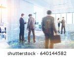 people are walking in an open...   Shutterstock . vector #640144582