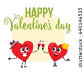valentine day greeting card ...   Shutterstock .eps vector #640146535