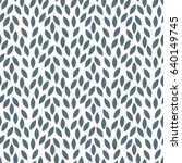 abstract grey liaves pattern.... | Shutterstock .eps vector #640149745