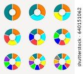 circle chart set. round pie... | Shutterstock . vector #640151062