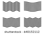 set of 4 abstract grid elements.... | Shutterstock .eps vector #640152112