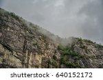 norway fjord cliff | Shutterstock . vector #640152172