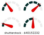 gauge level indicator symbol... | Shutterstock .eps vector #640152232