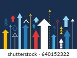 arrows up isolated  many... | Shutterstock .eps vector #640152322