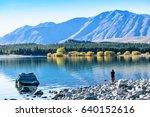 autumn in lake tekapo  nz   Shutterstock . vector #640152616
